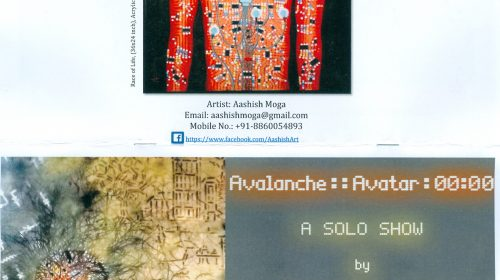 Avalanche :: Avatar : 00:00, solo show by Aashish Monga at AIFACS Delhi, 15 April 2016
