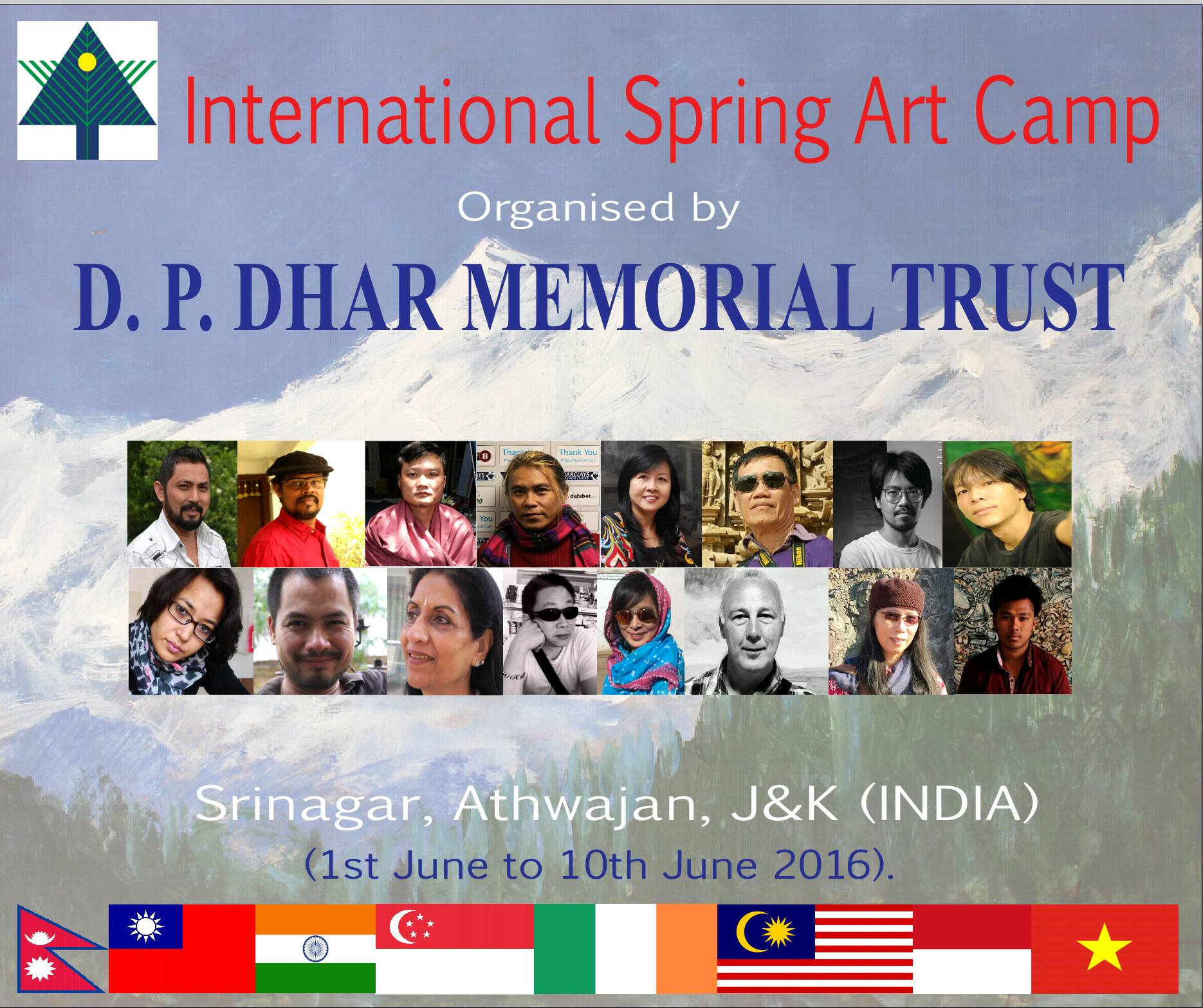nternational Spring Art Camp at Srinagar, J&K, India .....from -1st June To 10th June 2016 — with Nguyen Hong Phuong, Tommy Barr, Phạm TânDậu and SzeHooi Gan.