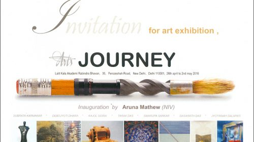 """Journey"", a group show at Lalit Kala Akademy, 26 April 2016"