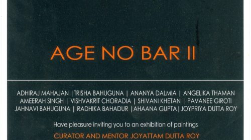 Age no Bar II, group show at AIFACS Delhi, 29 April 2016