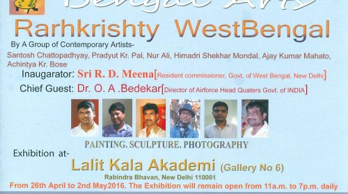 Bengal Arty, Rarhkrishty West Bengal, group show, Lalit Kala Akademy, Delhi, 26 April 2016