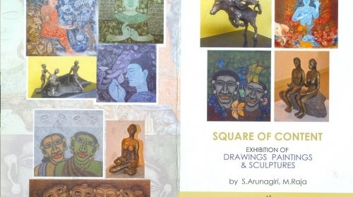 Square of Content, group show by S Arunagiri, M. Raja. at Lalit Kala Akademy, Delhi, 26 April 2016