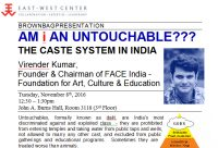 AM I AN UNTOUCHABLE???: THE CASTE SYSTEM IN INDIA