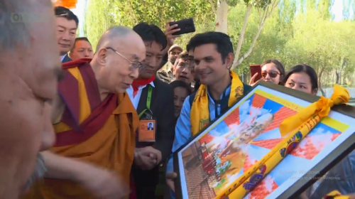 His Holiness Dalai Lama's 83rd birthday celebration with Long Life Travel Art Exhibition 2018